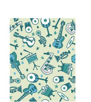 简笔画音乐素材简笔画吉他皇冠萨克斯书架可爱的乐器