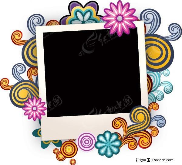 大頭貼 相框 甜美 夢幻 邊框 矢量素材圖片