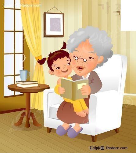 韩国温馨家庭插画之看书