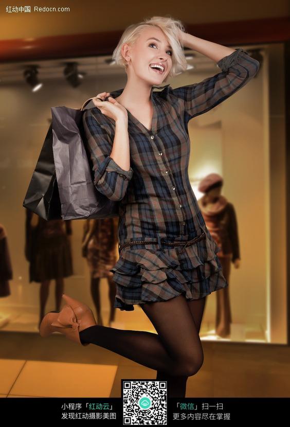 时尚美女购物高清图片 2图片