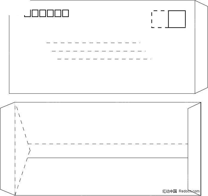 信封样式模板图片