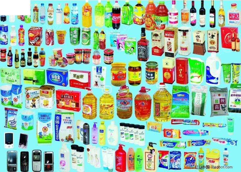 超市各类商品素材