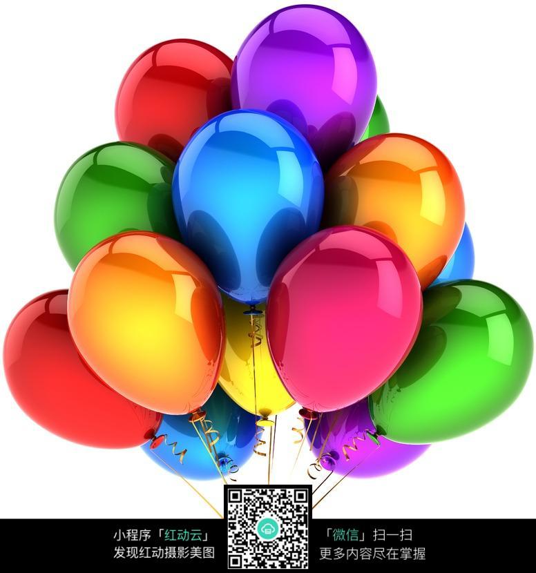 一束五彩气球