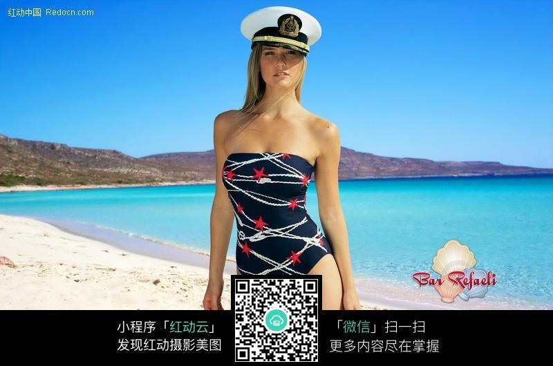 戴帽子的泳衣美女图片 人物图片素材|图片库|图