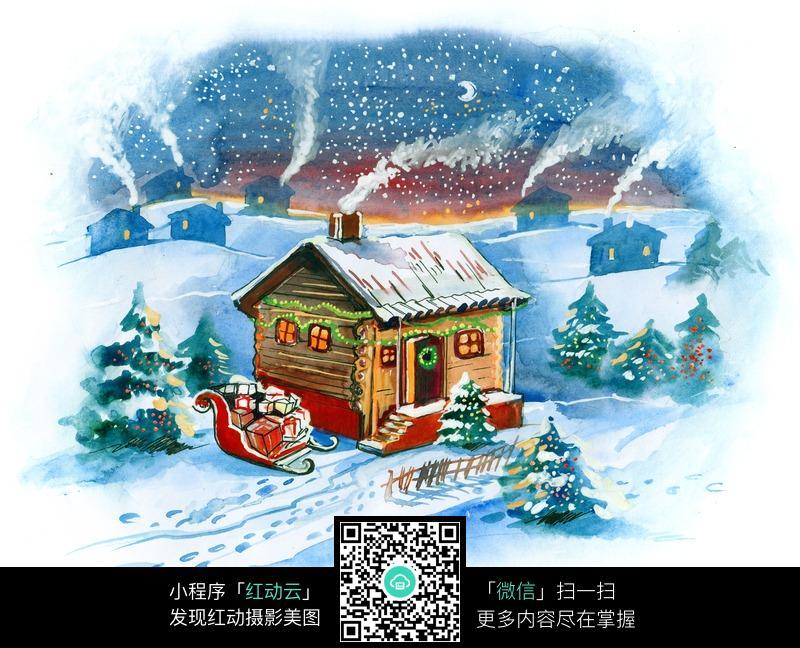 手绘精美圣诞节图片_活动场景图片