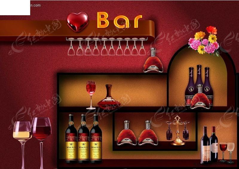 免费素材 psd素材 psd广告设计模板 海报设计 酒吧酒架海报  请您分享图片