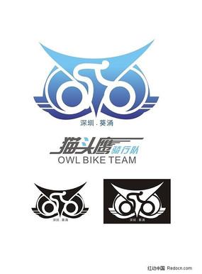 猫头鹰骑行队logo