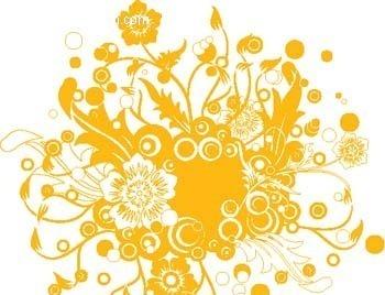 植物花纹矢量图eps免费下载_花纹花边素材