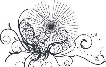 黑白花纹素材矢量图