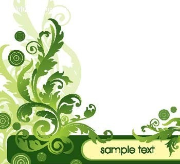 绿色植物花纹