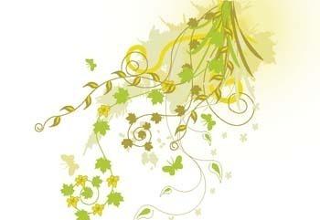 免费素材 矢量素材 花纹边框 花纹花边 藤蔓花纹