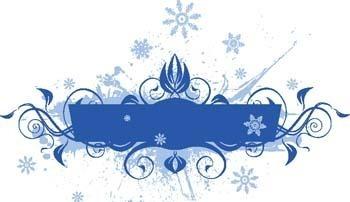 蓝色雪花花纹图片
