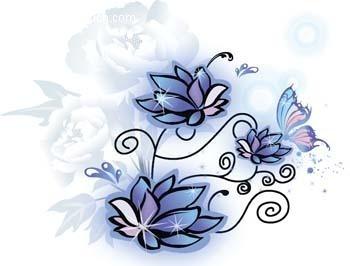蝴蝶花纹EPS素材免费下载 编号485941 红动网