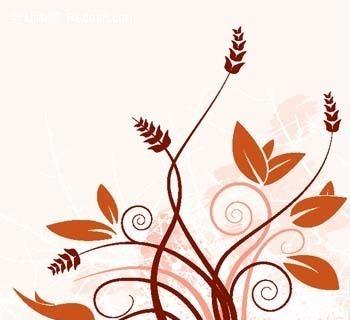 免费素材 矢量素材 花纹边框 花纹花边 植物藤蔓花纹