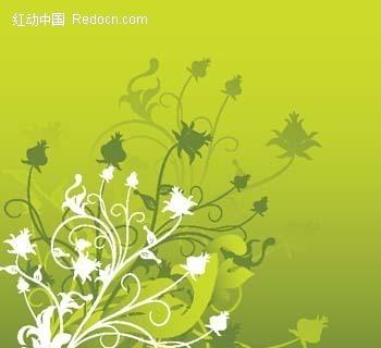植物藤蔓花纹矢量图_花纹花边