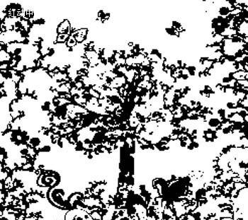 树木简笔画图片大全花边