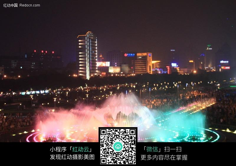 济南泉城广场-音乐喷泉