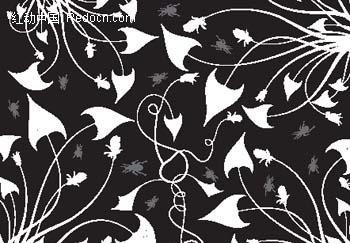 植物藤蔓纹样矢量图_底纹背景