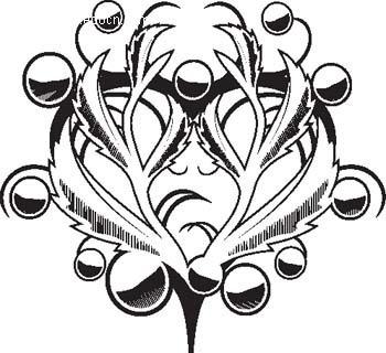 植物纹样矢量图_其他