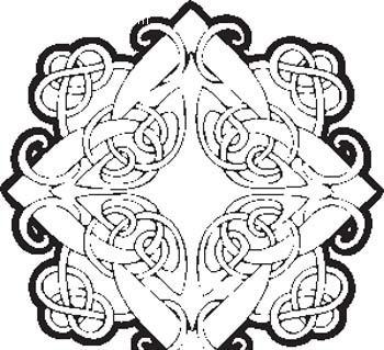 植物缠绕纹样矢量图_花纹花边