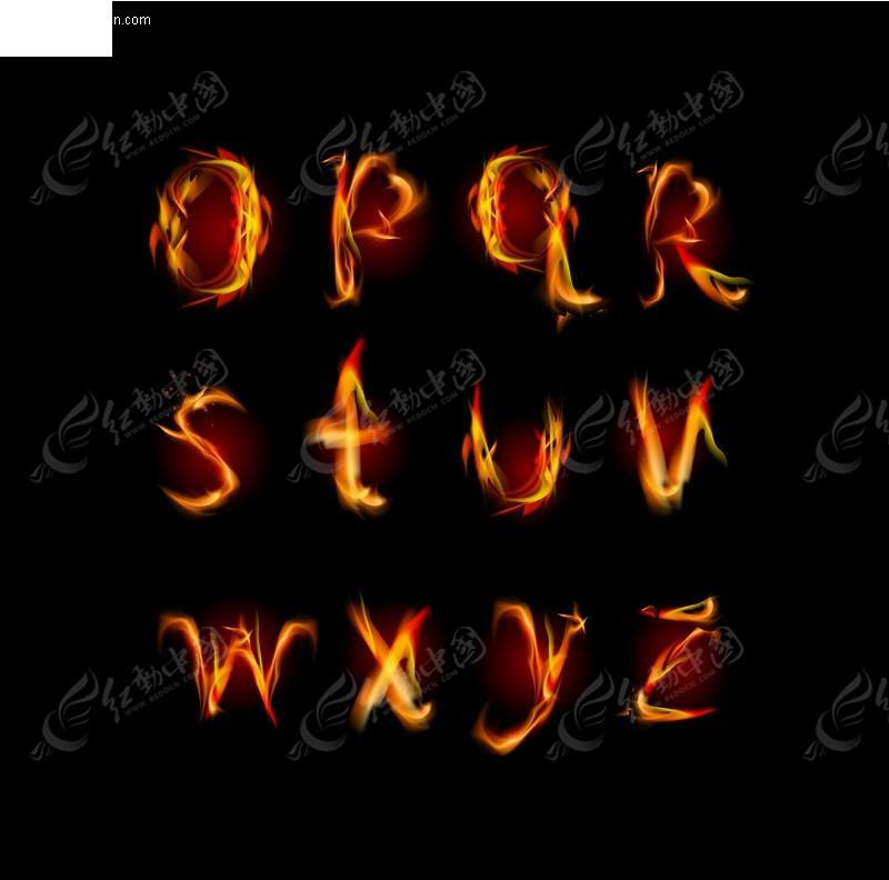 火焰英文字母2
