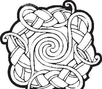 藤蔓缠绕纹样图片