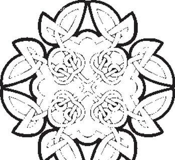 黑白花朵线条纹样