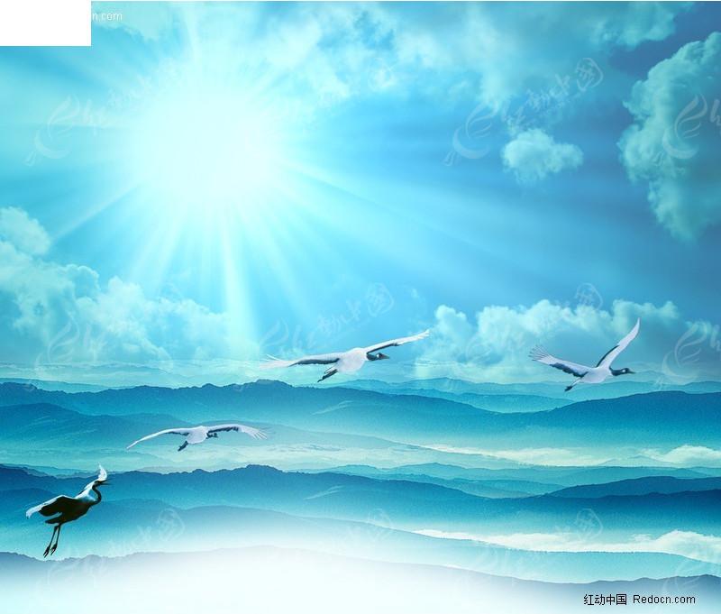 蓝天白云背景图片_ 背景 素材