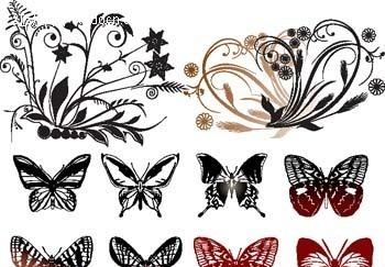 二方纹样手绘彩色