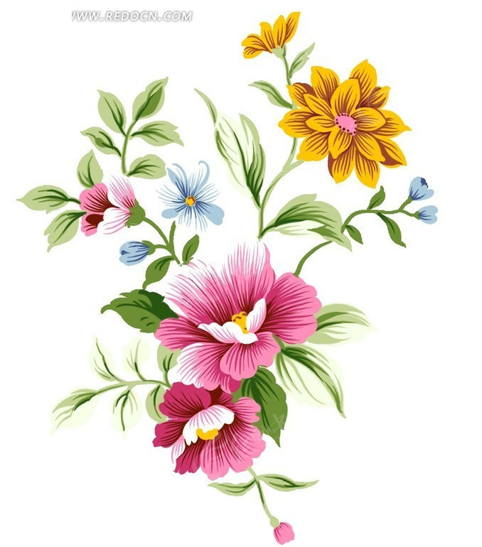 手绘风格花朵图片