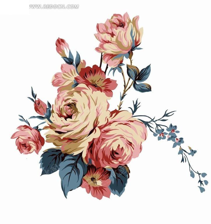 精美手绘花朵素材图片