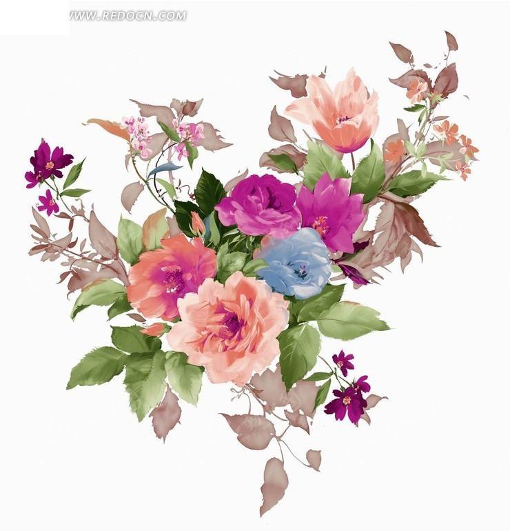 精美手绘花朵素材