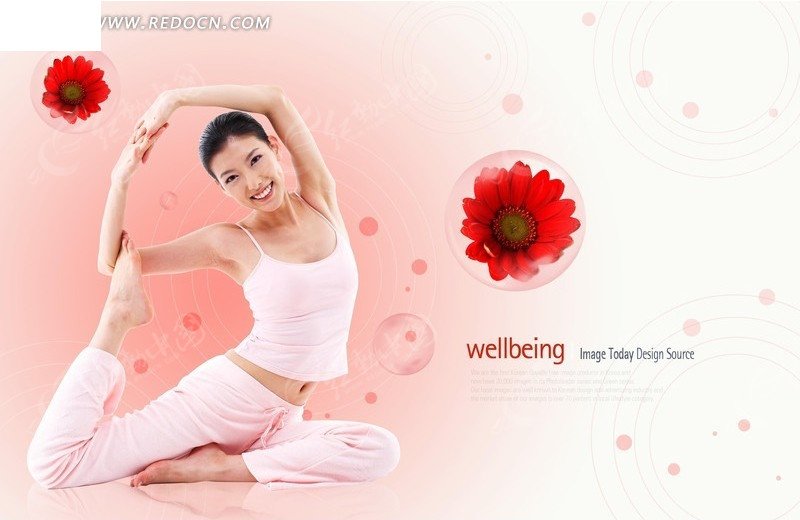 健康女人 瑜伽美女素材 PS体育素材|运动PSD