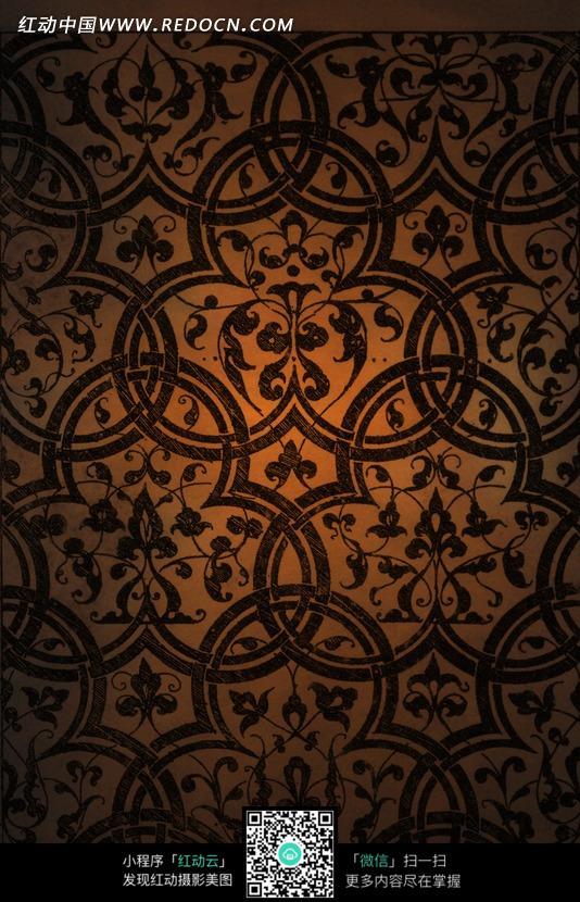 欧式复古花纹背景素材