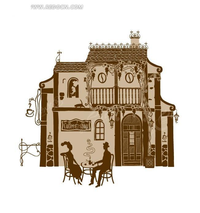 欧式建筑物矢量图