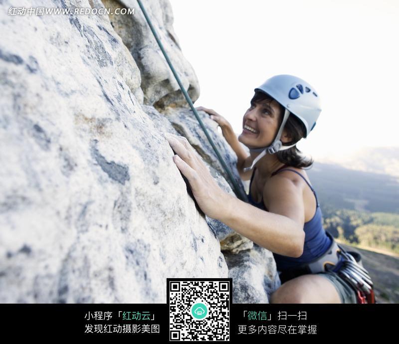 攀岩登高美女图片 体育运动图片