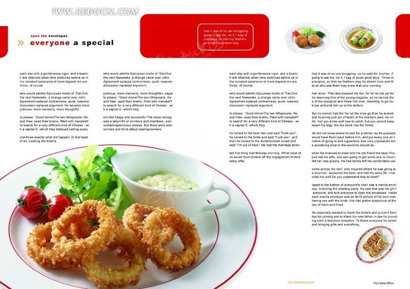 美食菜谱画册设计模板psd分层素材图片