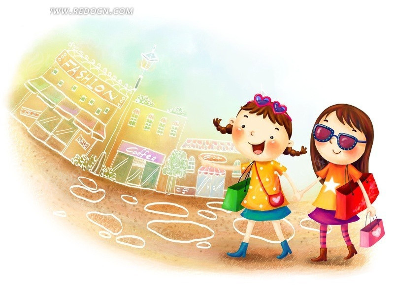 韩国 手绘小清新插画 人物