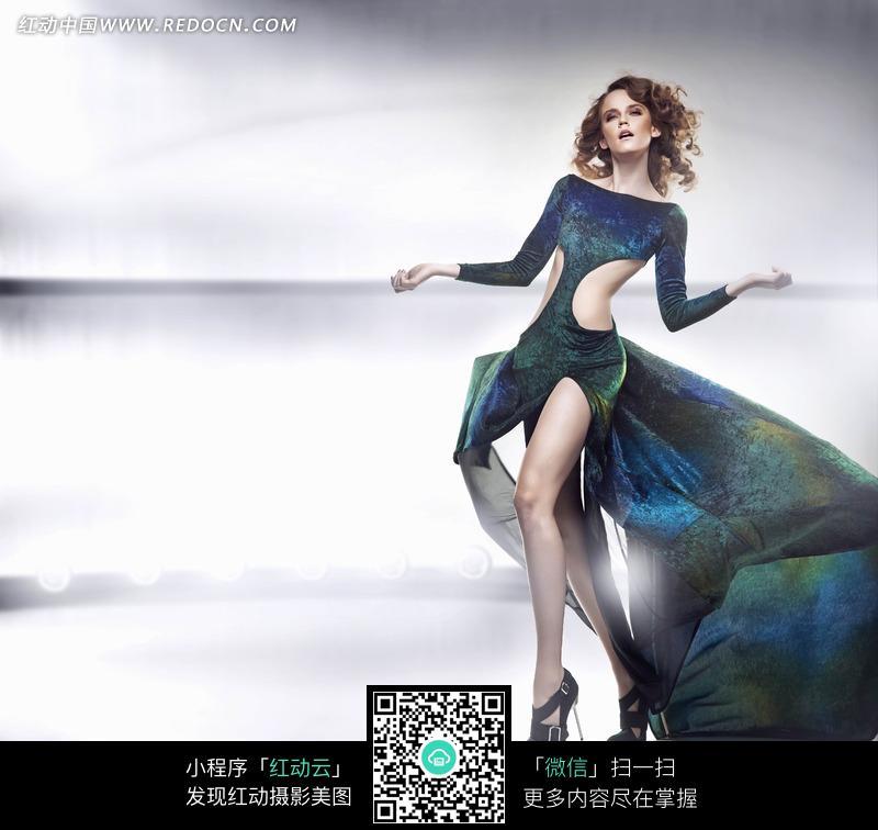 时尚欧美长裙美女模特写真图片图片 人物图片