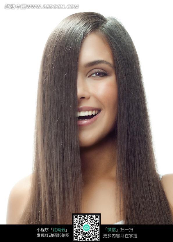 外国长发美女欧美长发美女外国直发美女长发美女微笑 竖