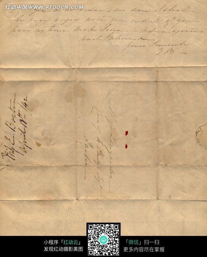古老英文信件纸张图片