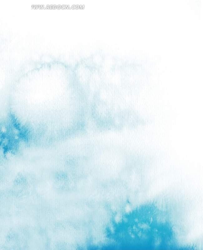 蓝天白云插画设计