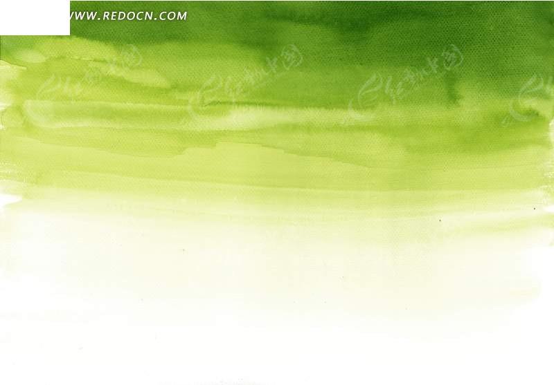 白绿色艺术水墨插画背景