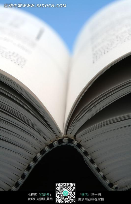 一本打开的书图片