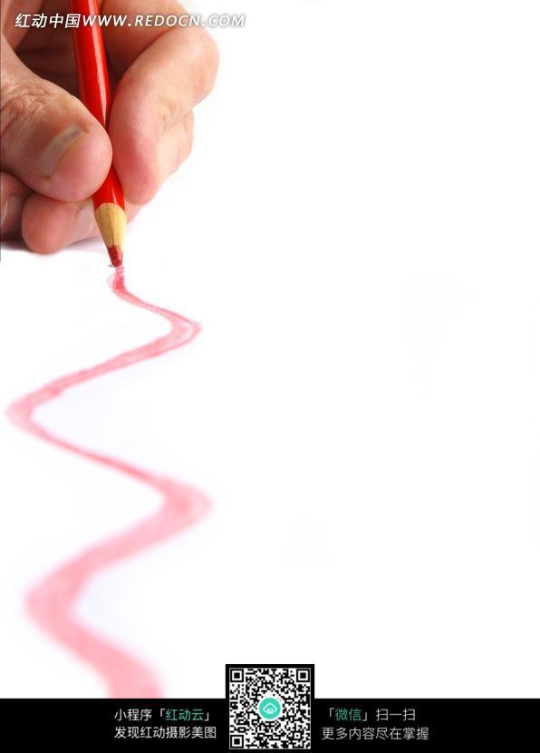 彩色铅笔画出的曲线图片