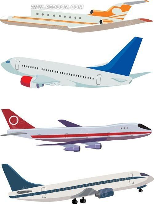 飞机矢量素材矢量图_现代商务