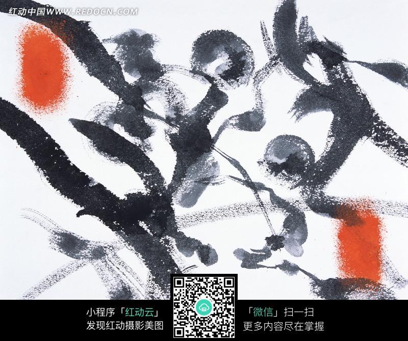 淡雅古典的水墨画背景图片