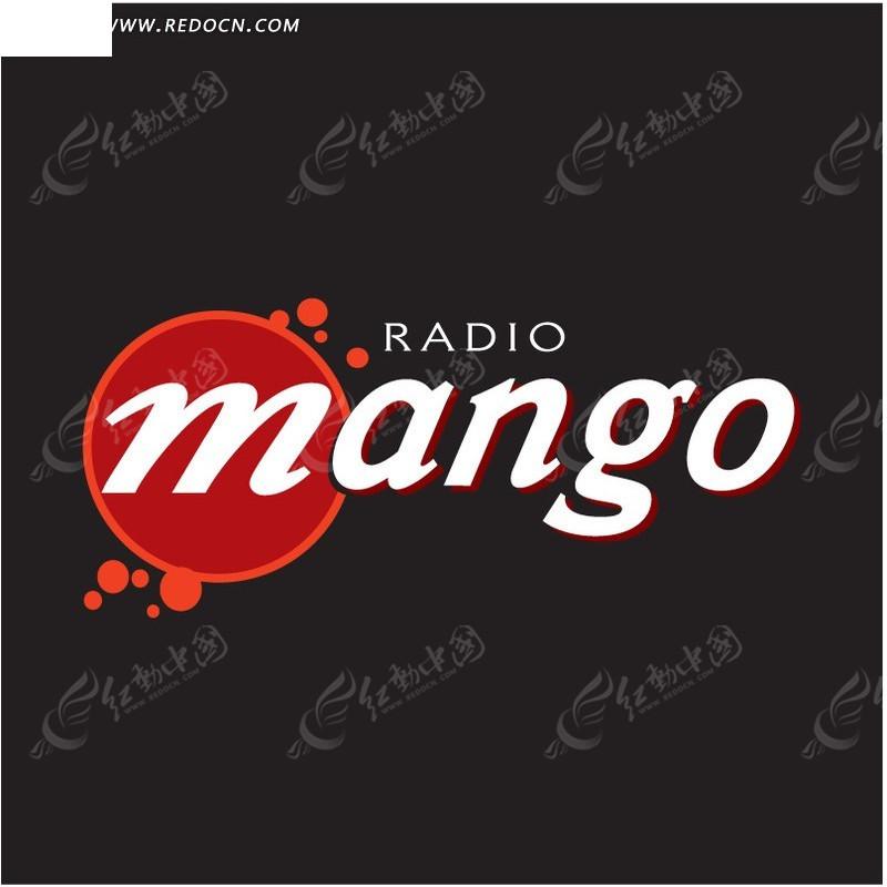 mango字母 logo设计图片