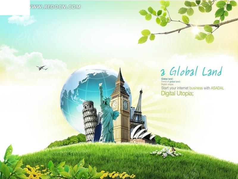 国外旅游广告宣传海报素材