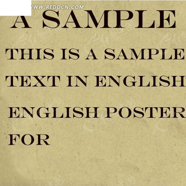 大气的英文海报字体 平面设计专用